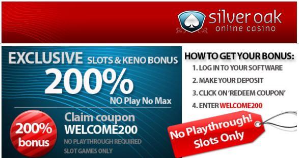 Silver oak casino no deposit bonus codes may 2018 tiny motors slot cars